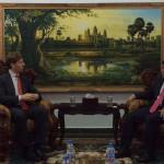 dward J Sappin meeting w Cambodia's HE Say Samal